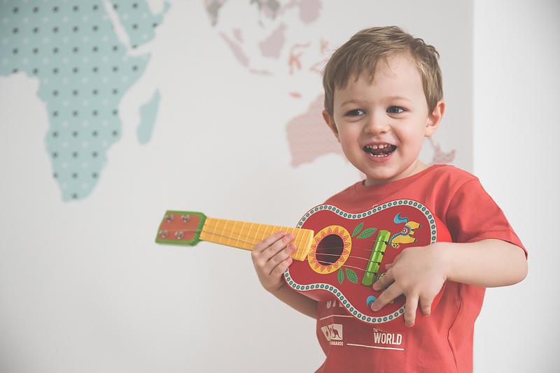 Bakusiowo Djeco Gitara dla Dziecka Instrumenty Mapa Naklejka -0791