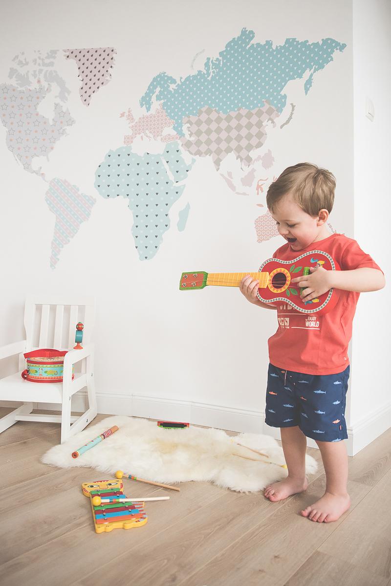 Bakusiowo Djeco Gitara dla Dziecka Instrumenty Mapa Naklejka -0792