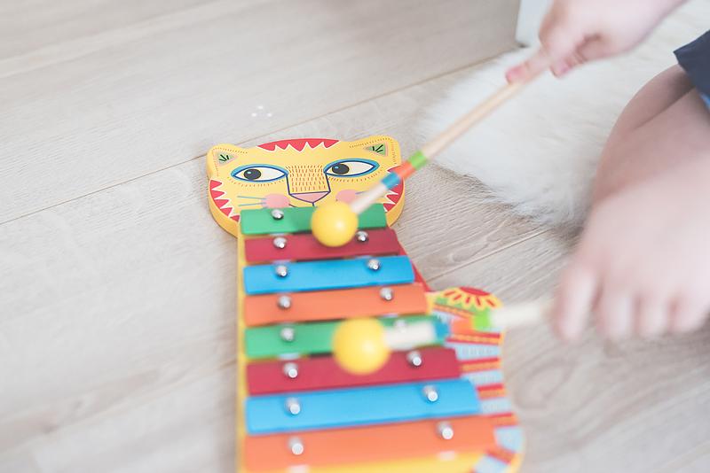 Bakusiowo Djeco Gitara dla Dziecka Instrumenty Mapa Naklejka -0819