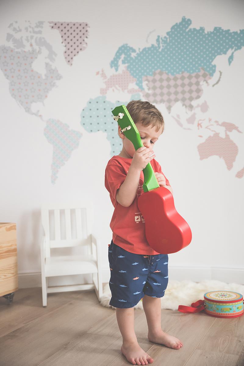 Bakusiowo Djeco Gitara dla Dziecka Instrumenty Mapa Naklejka -0873