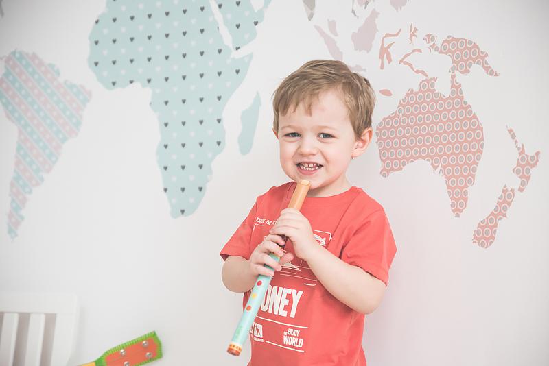 Bakusiowo Djeco Gitara dla Dziecka Instrumenty Mapa Naklejka -0878