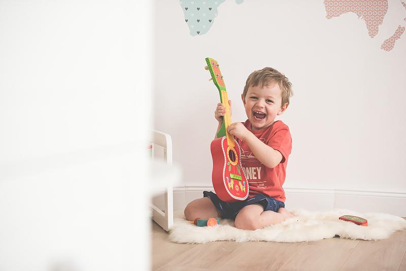 Bakusiowo Djeco Gitara dla Dziecka Instrumenty Mapa Naklejka -0918