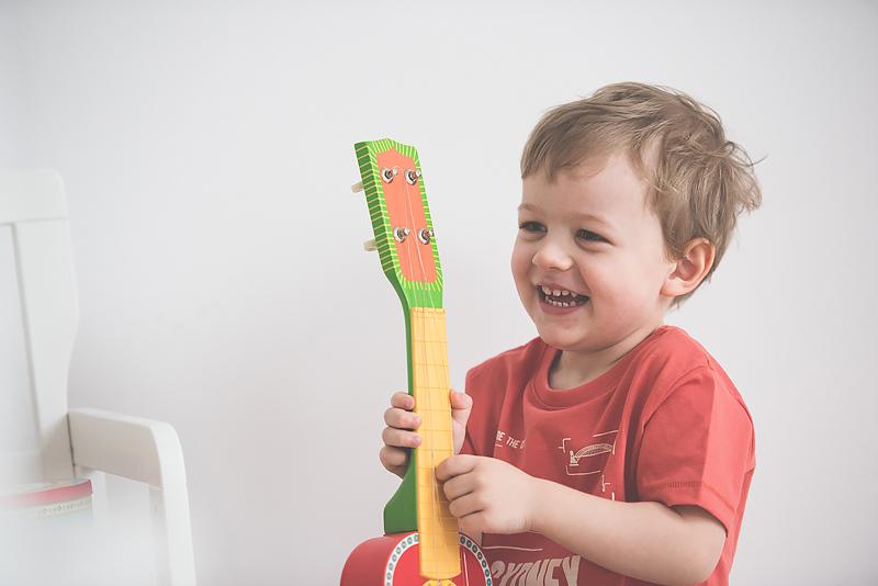 Bakusiowo Djeco Gitara dla Dziecka Instrumenty Mapa Naklejka -0934