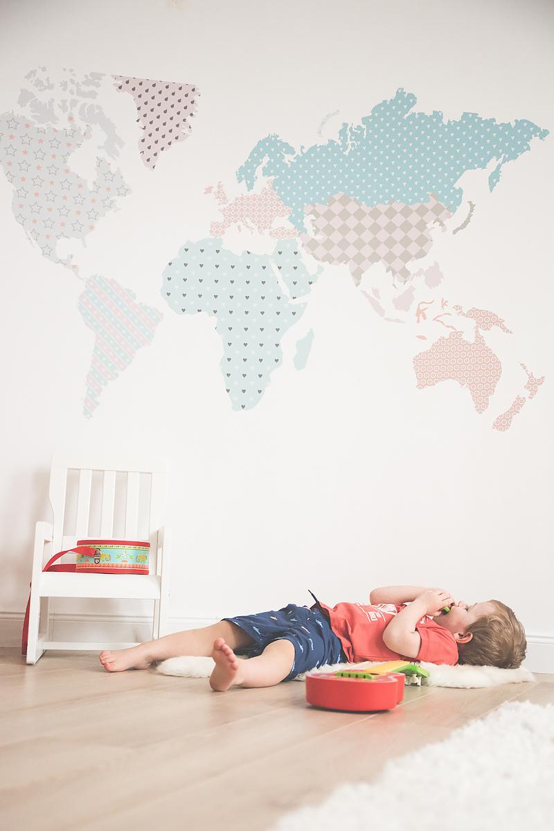 Bakusiowo Djeco Gitara dla Dziecka Instrumenty Mapa Naklejka -0944