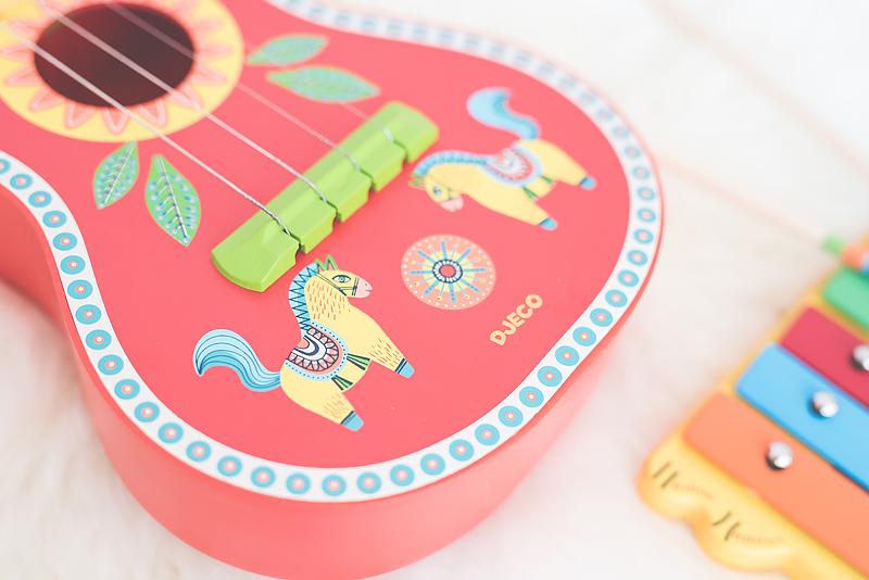 Bakusiowo Djeco Gitara dla Dziecka Instrumenty Mapa Naklejka -0969