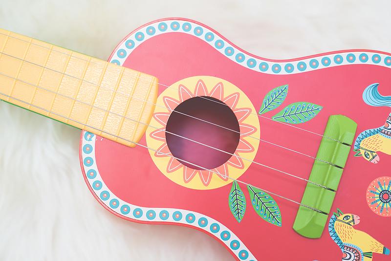 Bakusiowo Djeco Gitara dla Dziecka Instrumenty Mapa Naklejka -0980