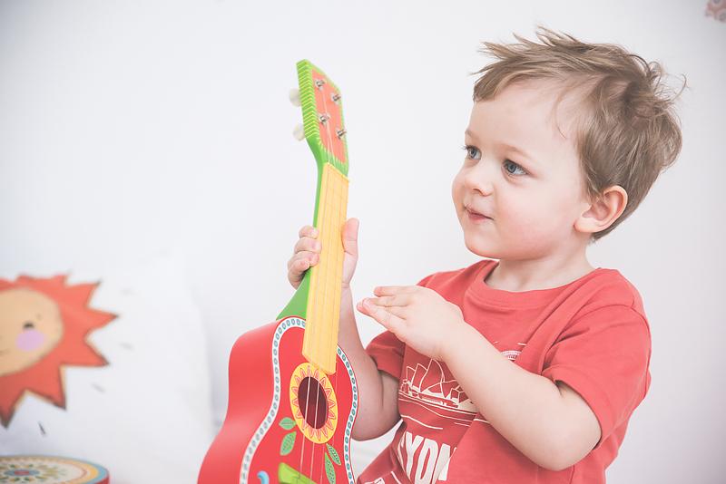 Bakusiowo Djeco Gitara dla Dziecka Instrumenty Mapa Naklejka -1000
