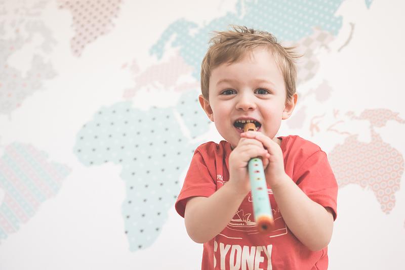 Bakusiowo Djeco Gitara dla Dziecka Instrumenty Mapa Naklejka -1032