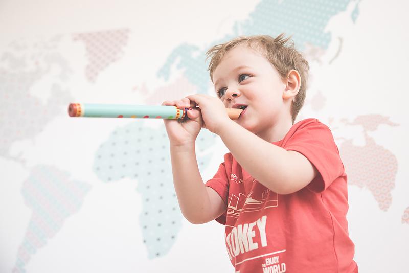 Bakusiowo Djeco Gitara dla Dziecka Instrumenty Mapa Naklejka -1033