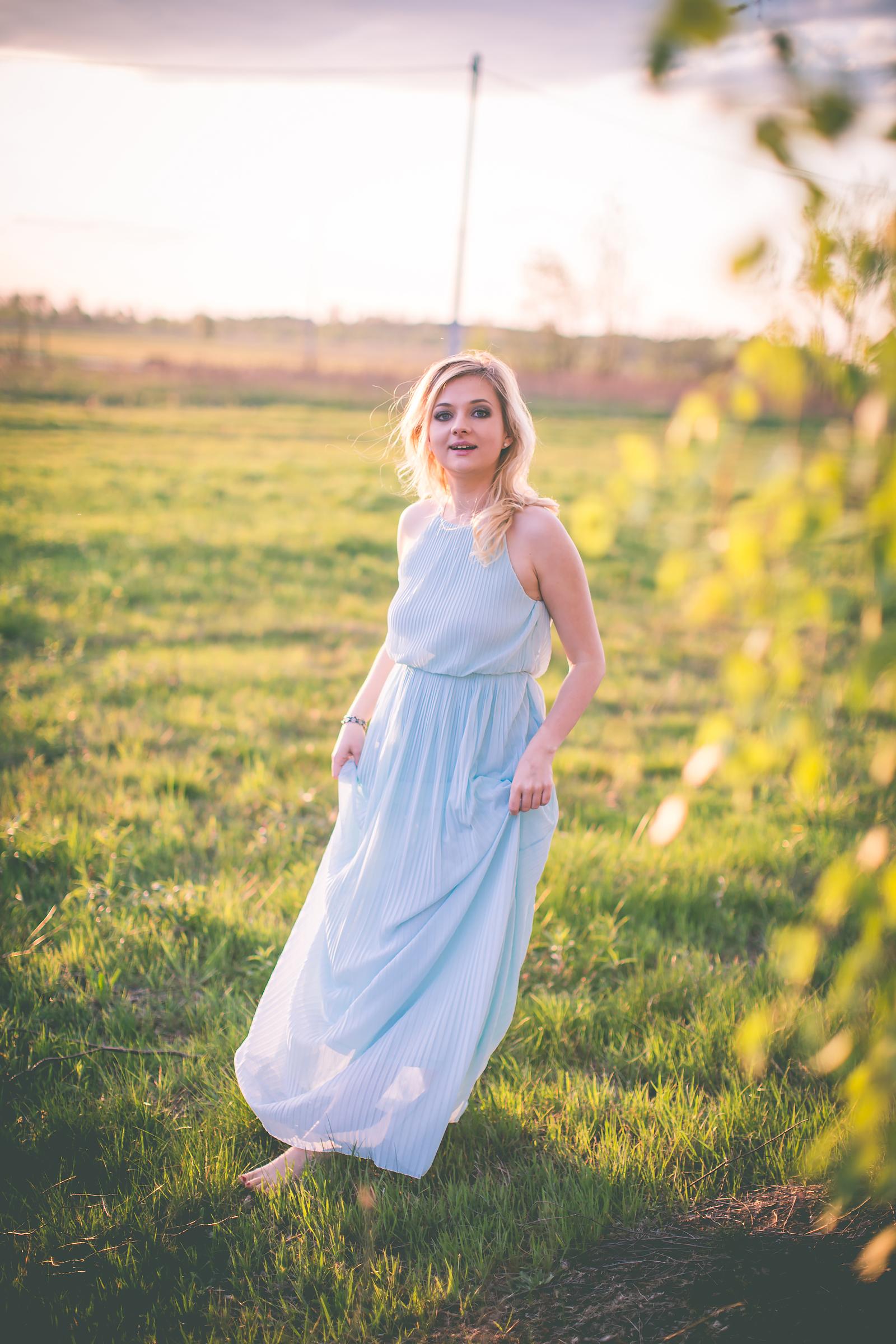 Stylizacja z dluga sukienka dluga sukienka mohito blog modowy00013