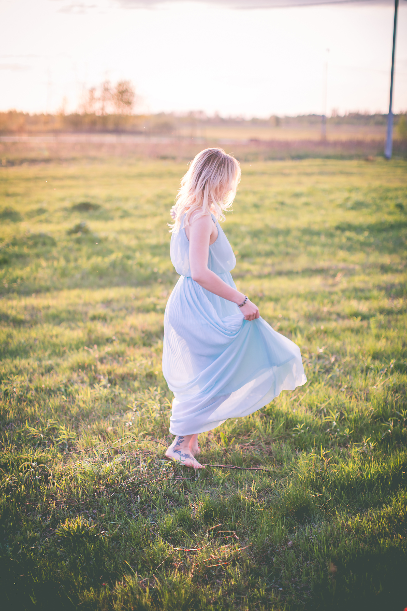Stylizacja z dluga sukienka dluga sukienka mohito blog modowy00015